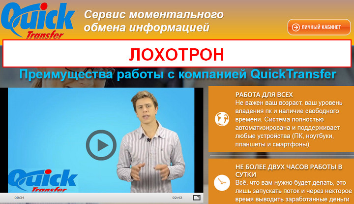 Сервис QuickTransfer отзывы