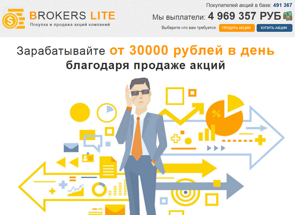 Лохотрон Платформа BROKERS LITE. Отзывы